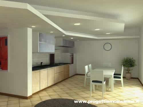 Progettiamo insieme arredamento e ristrutturazione architettura di interni - Controsoffitti in cartongesso per cucina ...