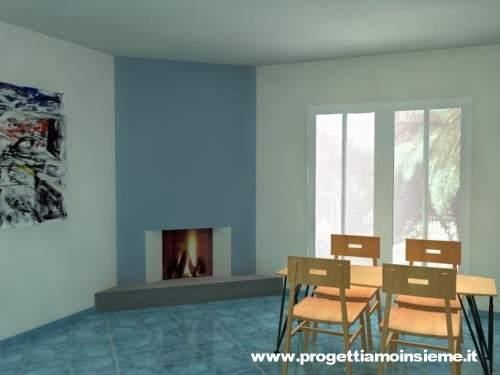 Progettiamo insieme arredamento e ristrutturazione - Camino nell angolo ...