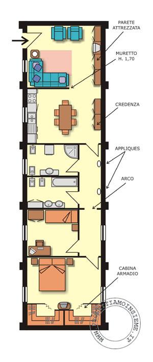 Distribuzione Spazi Interni Casa.Progettiamo Insieme Arredamento E Ristrutturazione Architettura