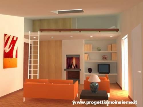 Progettiamo insieme arredamento e ristrutturazione architettura di interni - Camera con letto a soppalco ...