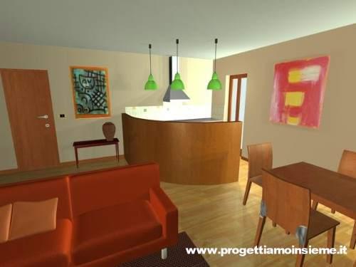 Progettiamo insieme arredamento e ristrutturazione - Salone e cucina insieme ...